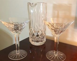 Waterford Martini set