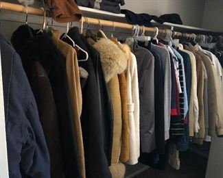 Men's and woman's coats and clothing