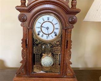 Antique F Kroeber Mantle Clock ((works))