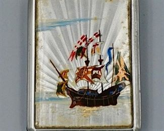 English Nautical Butterfly Wing Match Safe