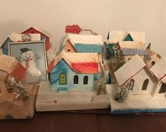 Old Christmas village houses