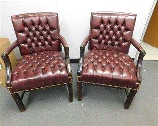 Leather Office Side Chairs