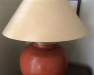 Gorgeous rusty orange lamp