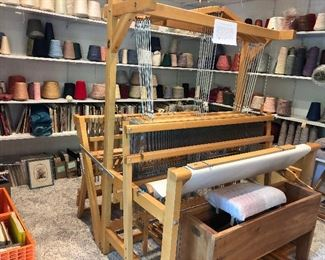 "45"" 8 harness Colonial loom"
