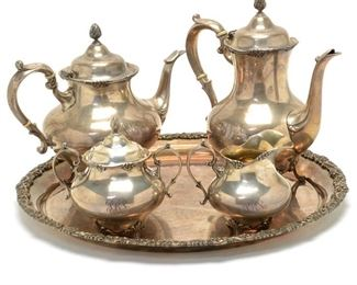 Reed  Barton Tara Sterling Silver Tea and Coffee Service.