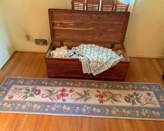 003 Cedar Chest, Linens, and More