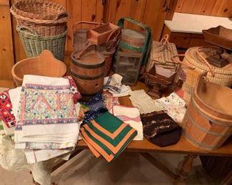 Baskets, Wood Tubs
