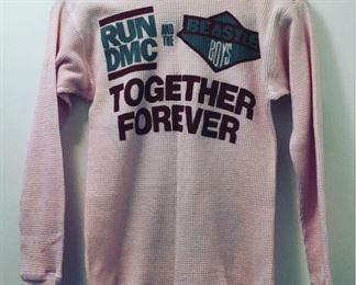 Vintage Run DMC & The Beastie Boys Together Forever pink girly thermal top size small