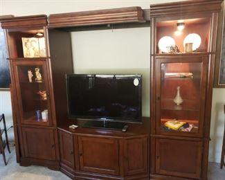Entertainment Center, Includes Flatscreen TV (not smart TV)