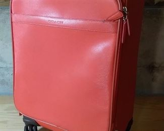 Authentic Leather Coach Carry On