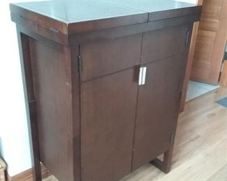 Beautiful Liquor Cabinet and Fold Out Bar