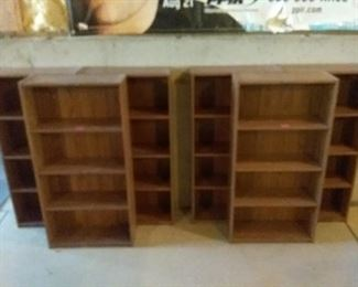 Six Shelving Units Book Cases