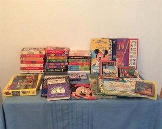 Childrens Videos Books Games