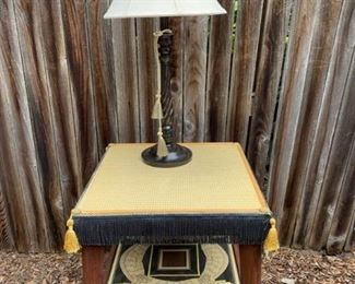 Tasseled Table and Lamp