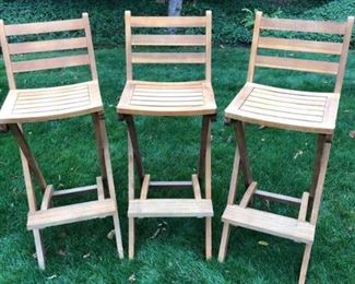 Wood High Top Chairs