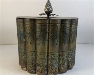 Lot 001 Victorian Tea Biscuit Caddy Silverplate