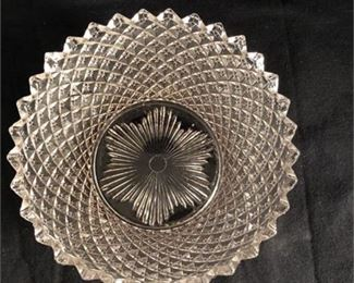 Lot 022 Westmoreland English Hobnail clear salad or dessert plate