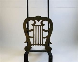 Lot 193 19th Century Forged Iron & Brass Hanging Fireplace Trivet