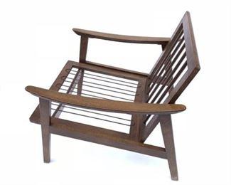 Lot 11 Mid Century Walnut Lounge Chair