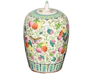 1. Chinese Ceramic Urn wLid