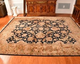 4. Large Handwoven Floral Pattern Area Rug
