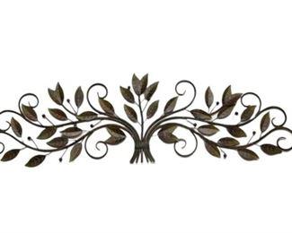 3. Large Bronze Finish Foliage Design Wall Decoration