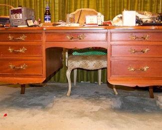 Vintage double sided desk