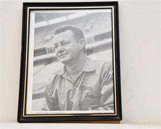 8. Norm Van Brocklin Autographed Photo