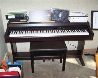 CLAVINOVA ELECTRIC  PIANO & SHEET MUSIC