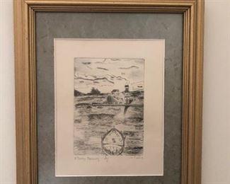$25 - Framed Etching