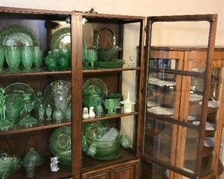 Two curio cabinets