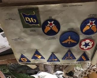 Book of military patches.