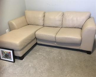 Leather One Sectional with Lounge