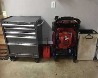 "Husky Limited Edition ball bearing tool box Toro Recycler 22"" Smart Stow push lawn mower"