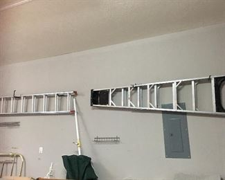 Extension Ladder and 8' Ladder