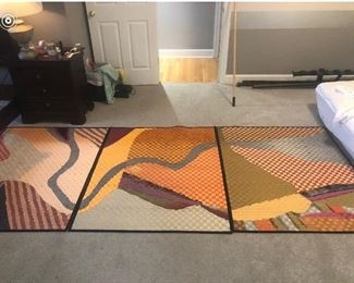 """Abstract Chattanooga Topography  Each Panel 44"""" x 52"""""""