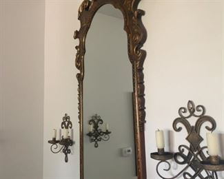 Antique / Vintage Mirror Chinoiserie Coutillion Mirror with Inlaid Asian carving beautiful - $500 Available for pre sale purchase
