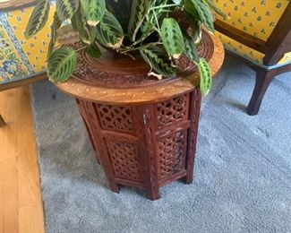 Carved Rosewood Garden Seat/ Drum Table- $80;Available for pre sale purchase