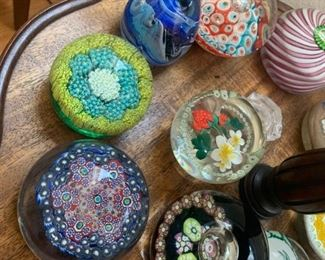 Miilefiori Paperweights/Old Art Glass Sculptures