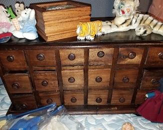 Much furniture accent items.  Cubby set of drawers