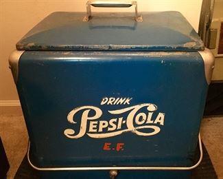 Vintage Pepsi-Cola Cooler, galvanized interior