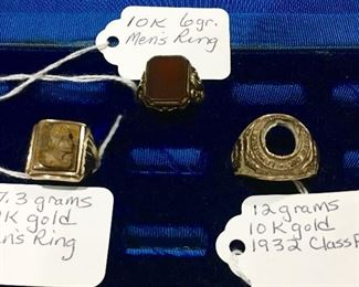 10K gold men's rings