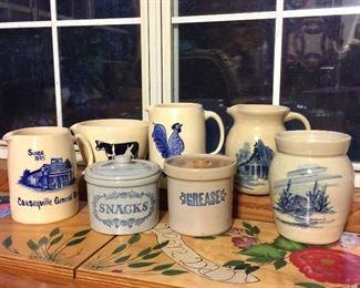 Stoneware crocks and pitchers