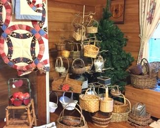 Lots of baskets and county decor