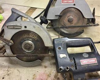 Vintage Craftsman power tools