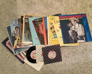 ALBUMS AND 45's