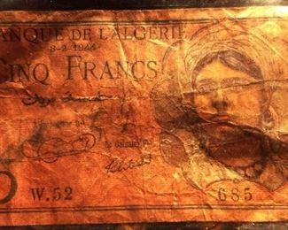1944 Banque De L'Algerie 5 Francs