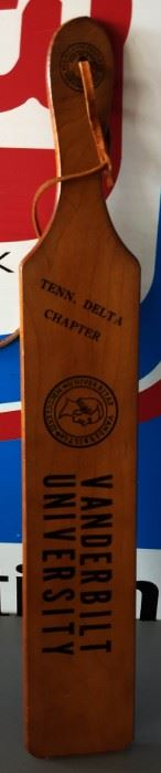 1979 Vanderbilt University Fraternity Paddle