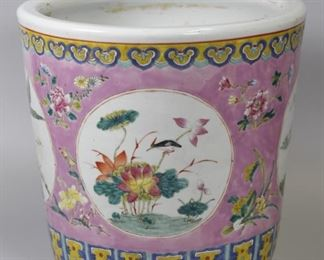 Chinese porcelain planter, possibly 19th c.