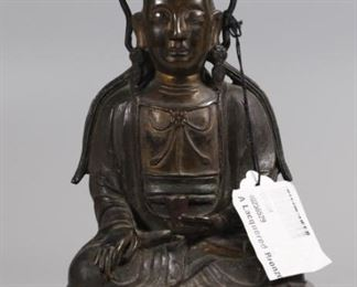 Chinese bronze Buddha, possibly Ming dynasty